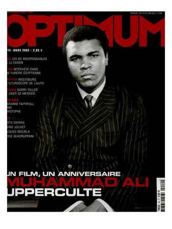 L'Optimum, March 2002 - Muhammad Ali Art by Yousuf Karsh