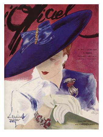 L'Officiel, June 1939 - Rose Valois Posters af  Lbenigni