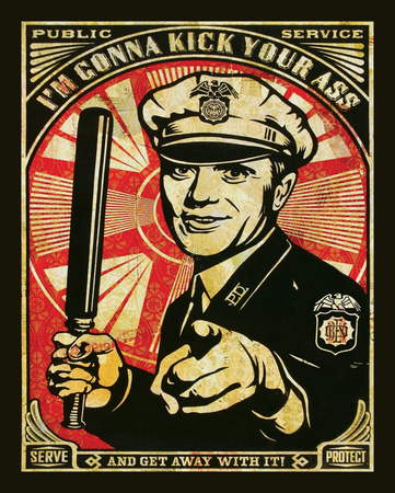 I'm Gonna Kick Your Ass - Obey Art Print Poster Posters