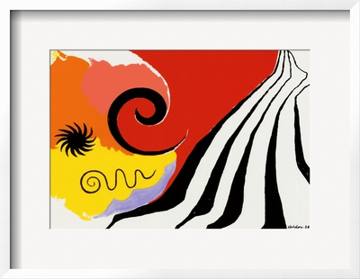 Pinwheel and Flow, c.1958 Poster by Alexander Calder