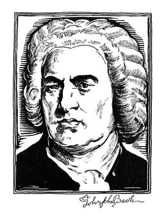 Johann Sebastian Bach Premium Giclee Print by Samuel Nisenson