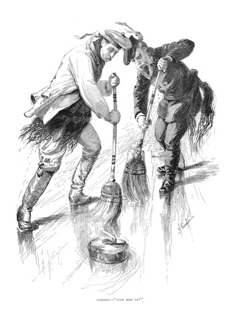 Curling Players, 1885 Premium Giclee Print