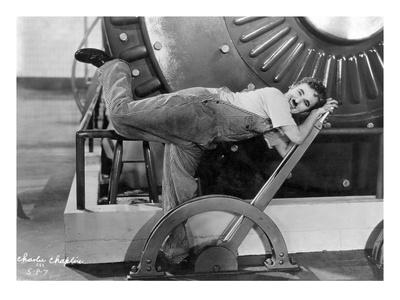 Chaplin: Modern Times, 1936 Premium Giclee Print