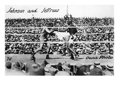 Johnson vs Jeffries, 1910 Premium Giclee Print