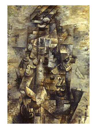 Braque: Man with a Guitar Giclée-tryk af Georges Braque