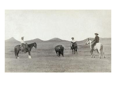 South Dakota: Cowboys Premium Giclee Print by John C.H. Grabill