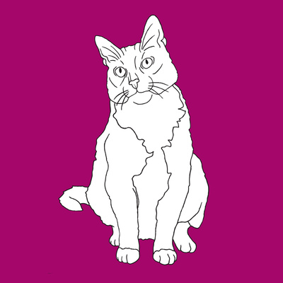 Cat With Head To One Side Prints by Anna Nyberg