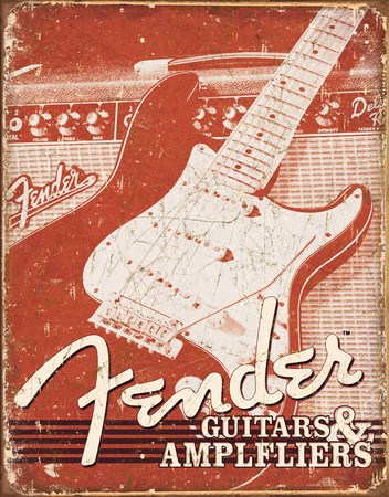 Fender - Weathered G&A Tin Sign