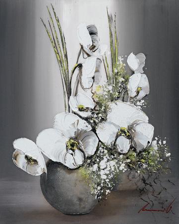 Univers d'Orchidees Blanches II Affischer av Olivier Tramoni