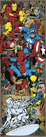Marvel Comics - Heroes Retro Posters