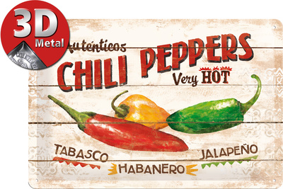 Chili Peppers Tin Sign