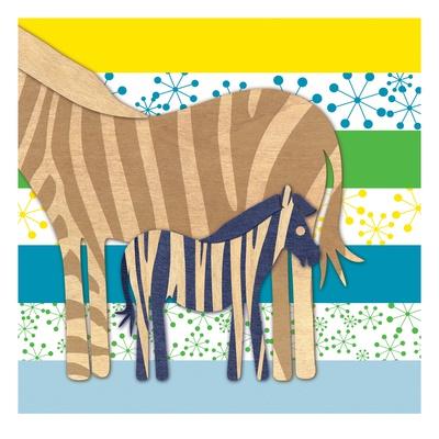 Zebra Family Prints by  Z Studio