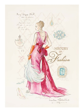 History of Fashion Giclée-Druck