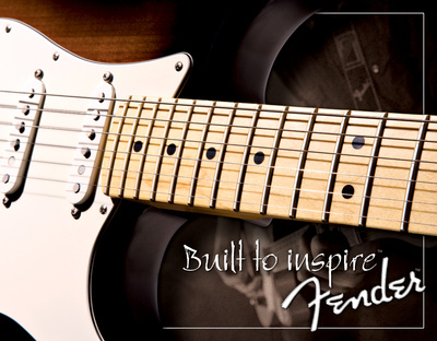 Fender - Built to Inspire Tin Sign