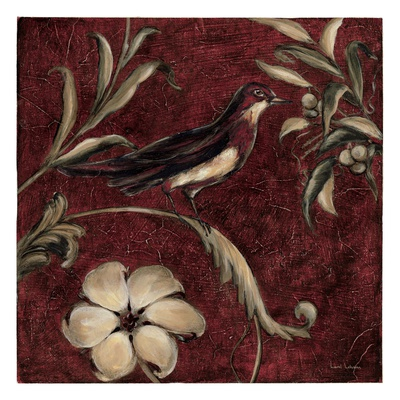 Crimson Song Bird No.4 Prints by Laurel Lehman