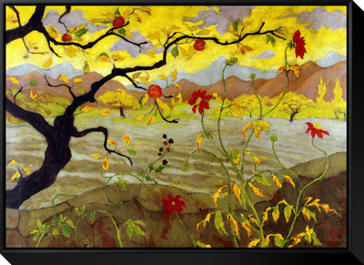 Apple Tree with Red Fruit, c.1902 Framed Canvas Print by Paul Ranson