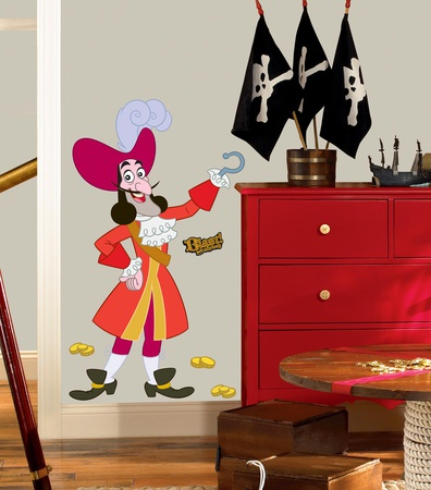 Jake & the Neverland Pirates Captain Hook Peel & Stick Giant Wall Decal Wall Decal