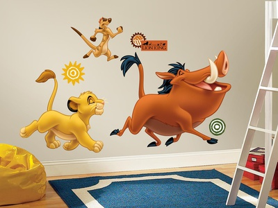 The Lion King Peel & Stick Giant Wall Decals Wallstickers