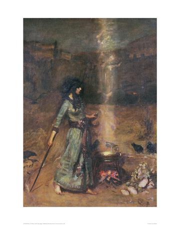 The Magic Circle Giclee Print by John William Waterhouse