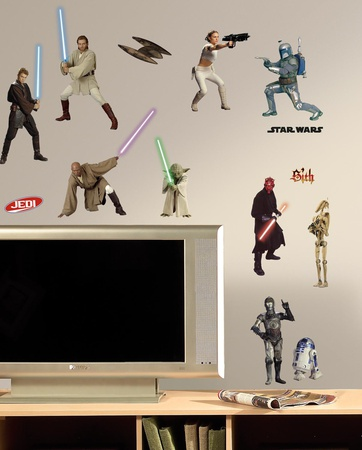 Star Wars Episodes 1-3 Peel & Stick Wall Decals Wall Decal