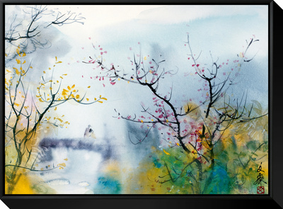 Lovers at Chi Tou Framed Canvas Print by Chi Wen