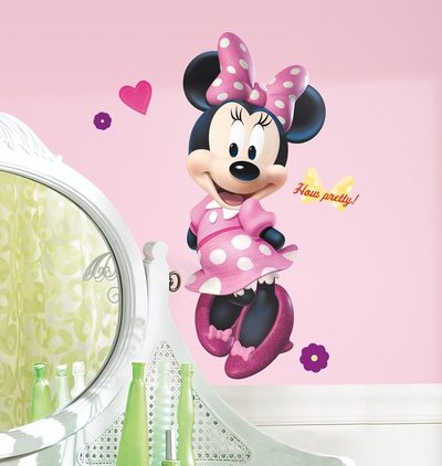 Mickey & Friends - Minnie Bow-tique Peel & Stick Giant Wall Decal Muursticker