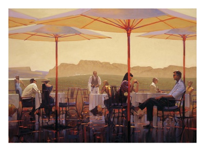 Winery Terrace Poster by Brent Lynch