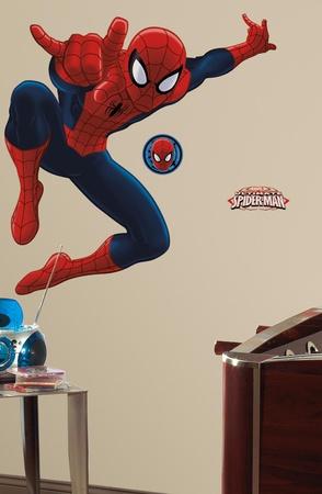 Spiderman - Ultimate Spiderman Peel & Stick Giant Wall Decal Muursticker