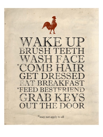 Morning Reminders Print by Morgan Yamada