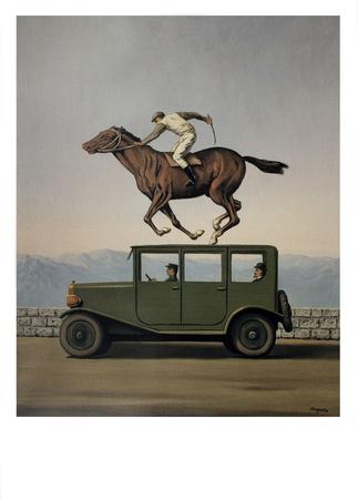 La Colere des Dieux Print by Rene Magritte