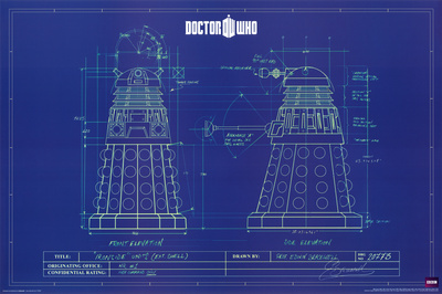 Doctor Who – Dalek Blue Prints Print
