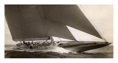 J Class Sailboat, 1934 Print by Edwin Levick