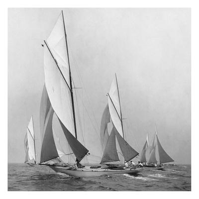 Sailboats Sailing Downwind, 1920 Prints by Edwin Levick