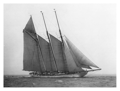 The Schooner Karina at Sail, 1919 Poster by Edwin Levick