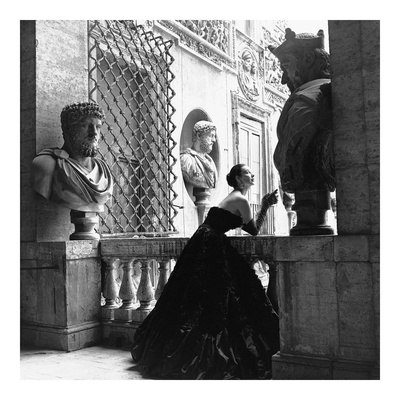 Evening Dress, Roma, 1952 Prints by Genevieve Naylor