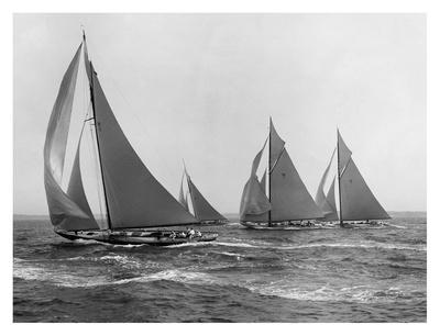 Sloops at Sail, 1915 Prints by Edwin Levick