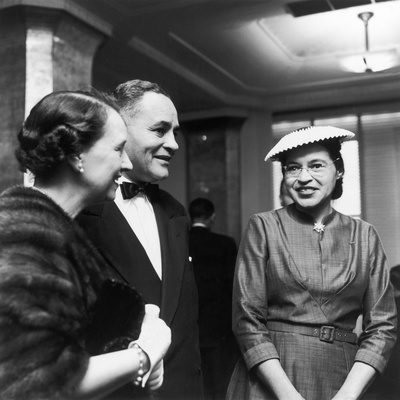 Rosa Parks, Ralph Bunche and His Wife Ruth Harris Photographic Print by Rosa Parks