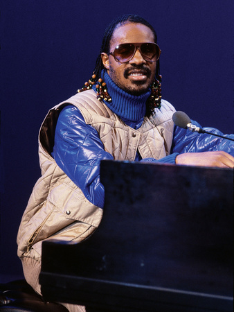 Stevie Wonder piano concert performance in January 1980 Ebony photo poster by Moneta Sleet