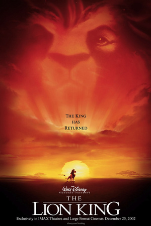 Simba The Lion King movie cover art; one of the greatest Disney films