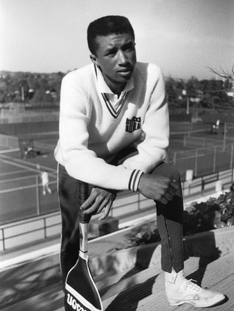 Arthur Ashe, Then a Rising Tennis Star Photographic Print by William Gillohm