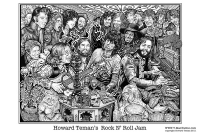 Rock N' Roll Jam Posters van Howard Teman