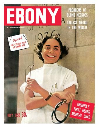 Ebony July 1955 Photographic Print by David W. Jackson