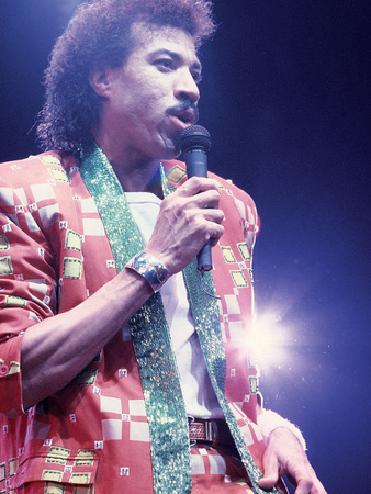 Lionel Richie, Performing, 1987 Photographic Print by James Mitchell