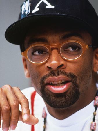 Filmmaker Spike Lee, Press Conference Regarding His New Film on the Life of Malcolm X Photographic Print by Moneta Sleet