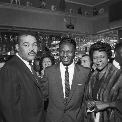 Nat King Cole Is Flanked by Boxing Great Joe Louis and His Wife Rose Morgan Photographic Print by G. Marshall Wilson
