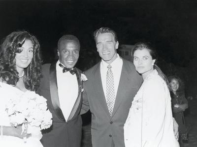 Sugar Ray Leonard and Bernadette Robi, Wedding Ceremony,  August 1993 Photographic Print by Vandell Cobb