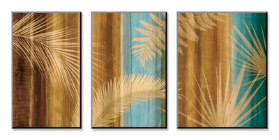 Caribbean Palms Sady reprodukcí na dřevěné desce