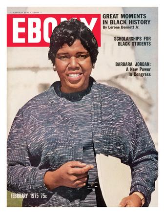 Ebony February 1975 Photographic Print by Moneta Sleet