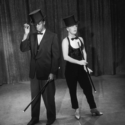 """Nat King Cole and His Guest Star Betty Hutton Perform a Dance Routine, """"Nat King Cole"""" Show, 1957 Photographic Print by Howard Morehead"""