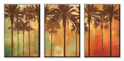 Palm Paradise Zestaw mocowany na drewnie